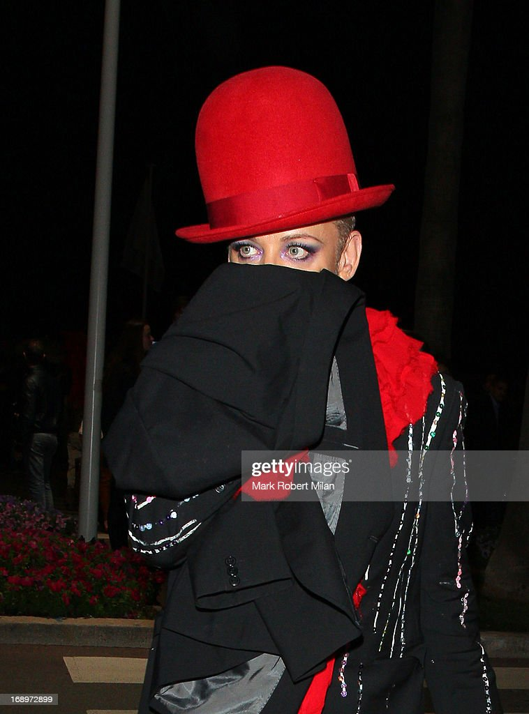 Boy George attends Worldview Entertainment and Amy Sacco?s Bungalow 8 party at The 66th Annual Cannes Film Festival on May 17, 2013 in Cannes, France.