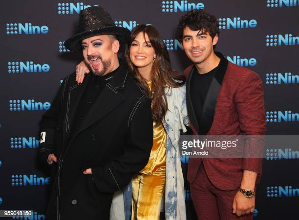 Boy George Delta Goodrem and Joe Jonas attend the Nine All Stars Event on May 16 2018 in Sydney Australia