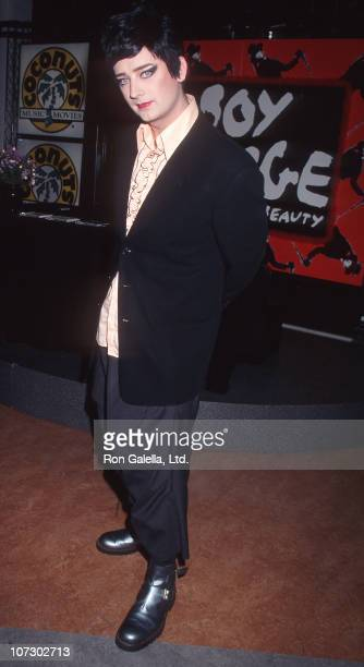 Boy George during Boy George Signing Autographs Coconuts Records Store in New York City September 20 1995 at Coconuts Record Store in New York City...