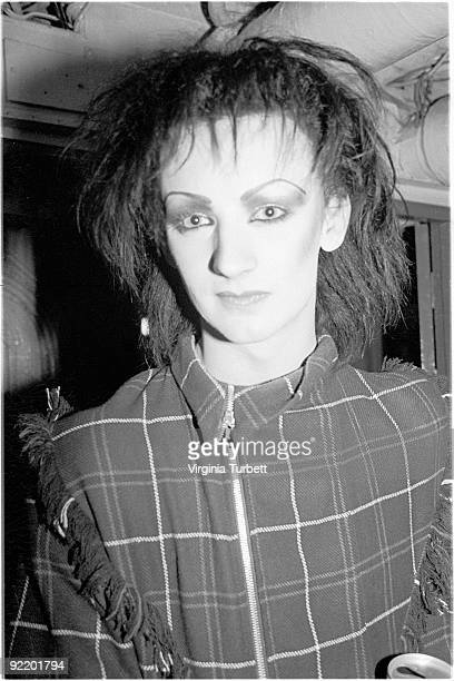 Boy George in New Romantics attire aboard HMS Belfast watching Spandau Ballet perform live on July 26 1980