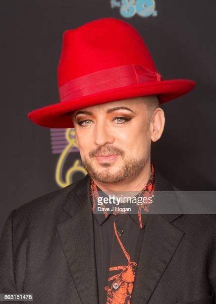 Boy George is pictured at BBC Children in Need Rocks the 80s at SSE Arena on October 19, 2017 in London, England.