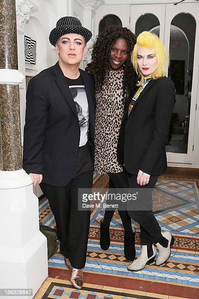 Boy George Jeni Cook and Pam Hogg attend as Boy George and Gizzi Erskine host a Great British C Party in support of The Hepatitis C Trust the UK...