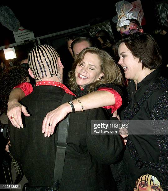Boy George Kathleen Turner and Rosie O'Donnell during Rosie O'Donnell's Production of 'Taboo' Opens on Broadway After Party at The Roxy in New York...