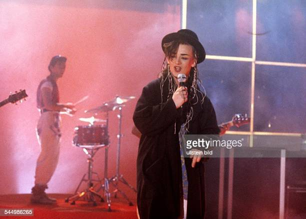Boy George Musician Singer Pop music UK performing with his band Culture Club 111982