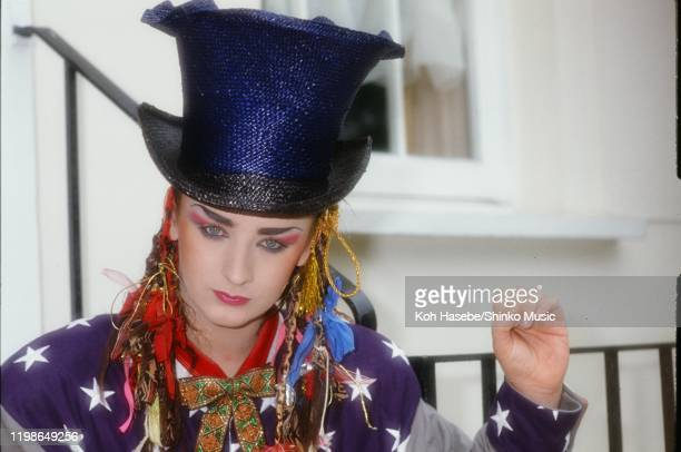 Boy George of Culture Club at his apartment in London, United Kingdom, 1983.
