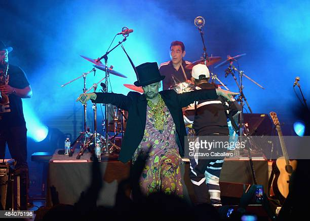 Boy George of Culture Club performs at Bayfront Park Amphitheatre at Bayfront Park Amphitheater on August 14 2015 in Miami Florida