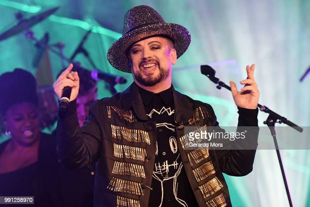 Boy George of Culture Club performs at House of Blues Orlando on July 3 2018 in Orlando Florida
