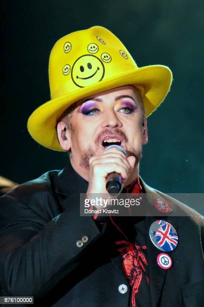 Boy George of Culture Club performs in concert at Golden Nugget on November 18 2017 in Atlantic City New Jersey