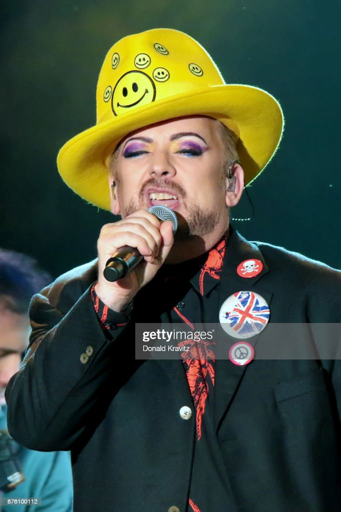 Boy George of Culture Club performs in concert at Golden Nugget on November 18, 2017 in Atlantic City, New Jersey.