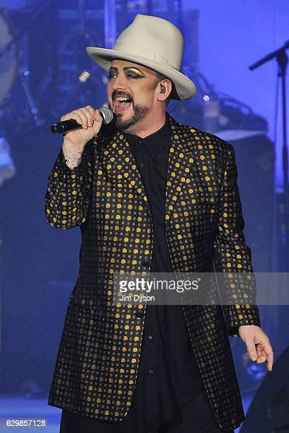 Boy George of Culture Club performs live on stage at Wembley Arena on December 14 2016 in London United Kingdom