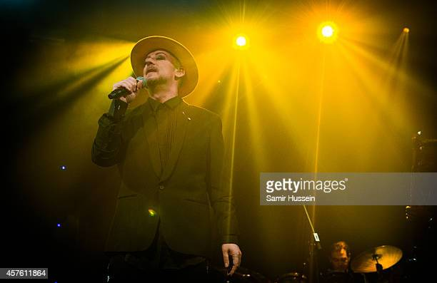 Boy George of Culture Club performs on stage at Heaven on October 21 2014 in London United Kingdom