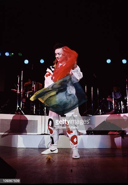 Boy George of Culture Club performs on stage Washington DC August 1983
