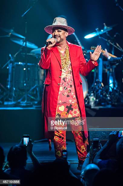 Boy George of Culture Club performs onstage at the Beacon Theatre on July 27, 2015 in New York City.