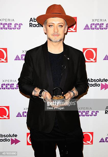 Boy George of Culture Club winners of the Q Idol award at the Xperia Access Q Awards at The Grosvenor House Hotel on October 22 2014 in London England