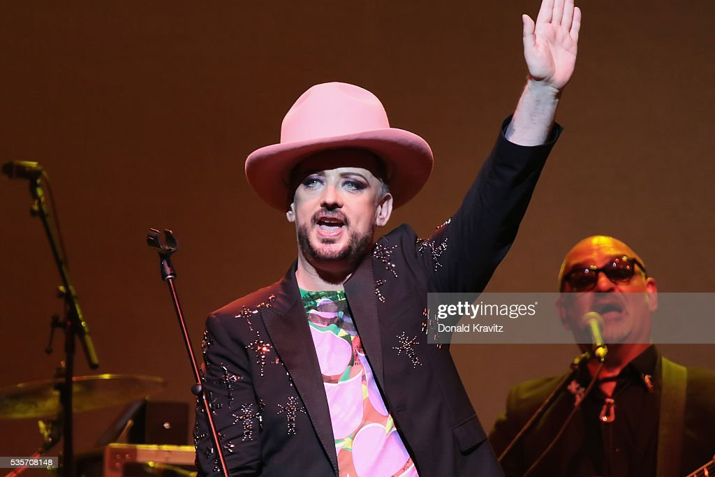 Boy George opens the Cyndi Lauper & Boy George In Concert with guest Rosie O'Donnell at The Borgota Hotel Casino & Spa on May 29, 2016 in Atlantic City, New Jersey.