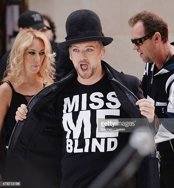 Boy George performs on NBC's 'Today' at Rockefeller Plaza on July 2 2015 in New York City