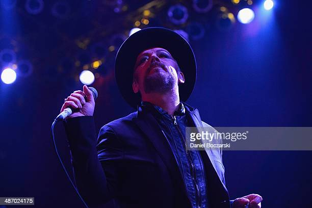 Boy George performs on stage at House Of Blues Chicago on April 26 2014 in Chicago United States
