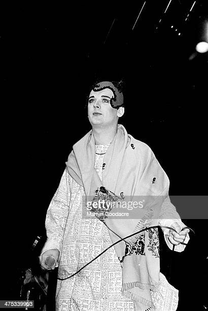 Boy George performs on stage with Jesus Loves You at The Town And Country Kentish Town London United Kingdom 1991
