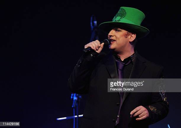 Boy George performs onstage at amfAR's Cinema Against AIDS Gala during the 64th Annual Cannes Film Festival at Hotel Du Cap on May 19, 2011 in...