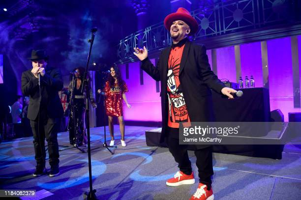 Boy George performs onstage during the Angel Ball 2019 hosted by Gabrielle's Angel Foundation at Cipriani Wall Street on October 28 2019 in New York...