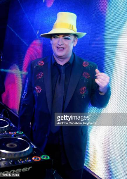 Boy George plays at the F1 Rocks India Afterparty on October 30 2011 in Delhi India