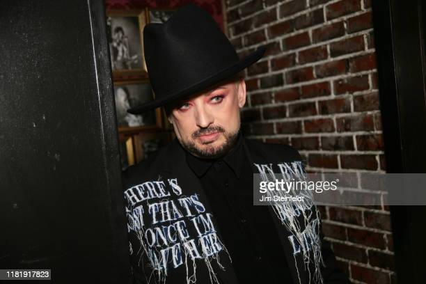 Boy George poses for a portrait at Rock & Reilly's in Los Angeles, California on September 24, 2019.