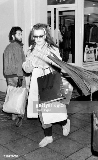 Boy George shopping in 1985