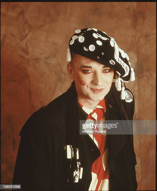 Boy George studio portrait London 1987