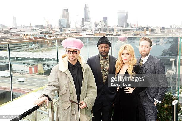 Boy George william Paloma Faith and Ricky Wilson attend The Voice Launch which airs on BBC One on Saturday January 9th at 730 pm at The Mondrian...