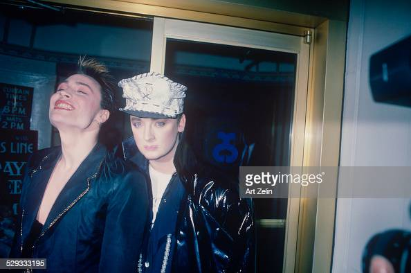 boy george with marilyn manson circa 1970 new york photo d 39 actualit getty images. Black Bedroom Furniture Sets. Home Design Ideas