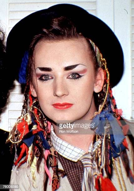 Boy George/Culture Club performs on the TV Show Solid Gold KTLA Studios Los Angeles California