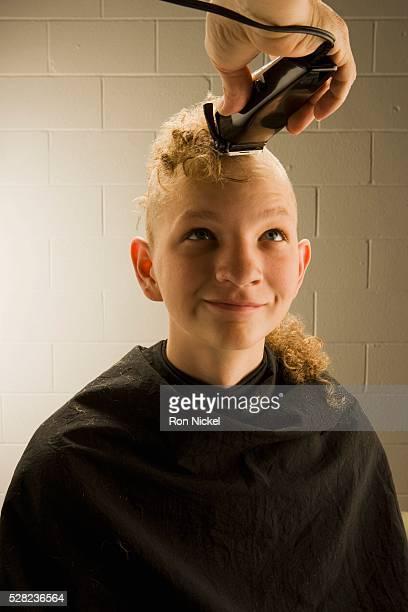 Boy Getting Head Shaved