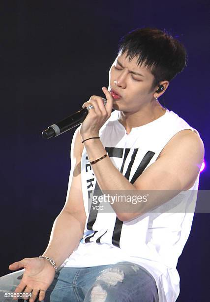 Boy group Got7 perform onstage during their concert at Shanghai Gymnasium on May 8 2016 in Shanghai China