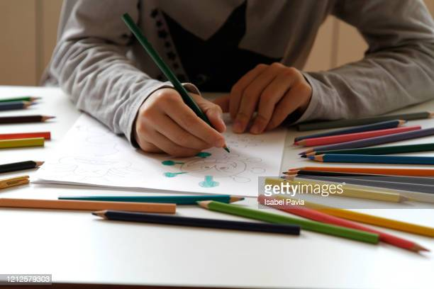 boy hands painting draw - coloring stock pictures, royalty-free photos & images