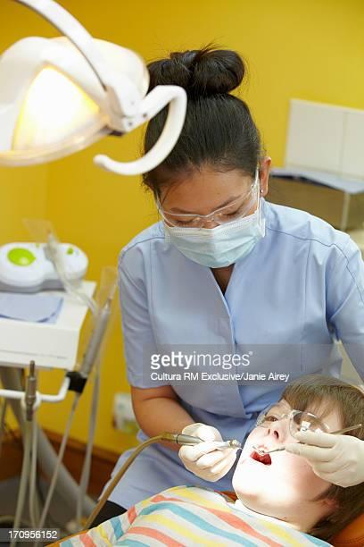 Boy having a dental examination