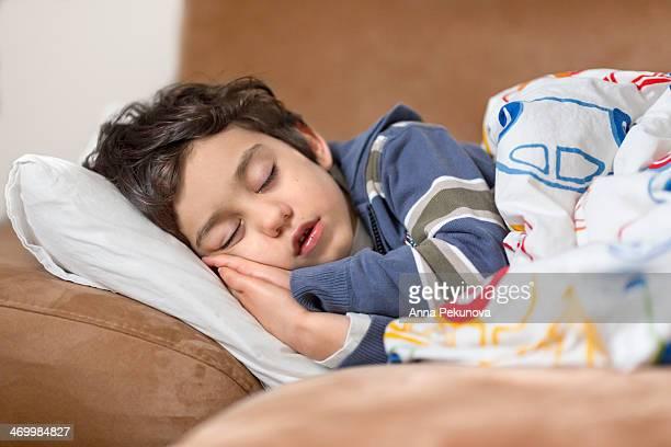 Boy having a nap