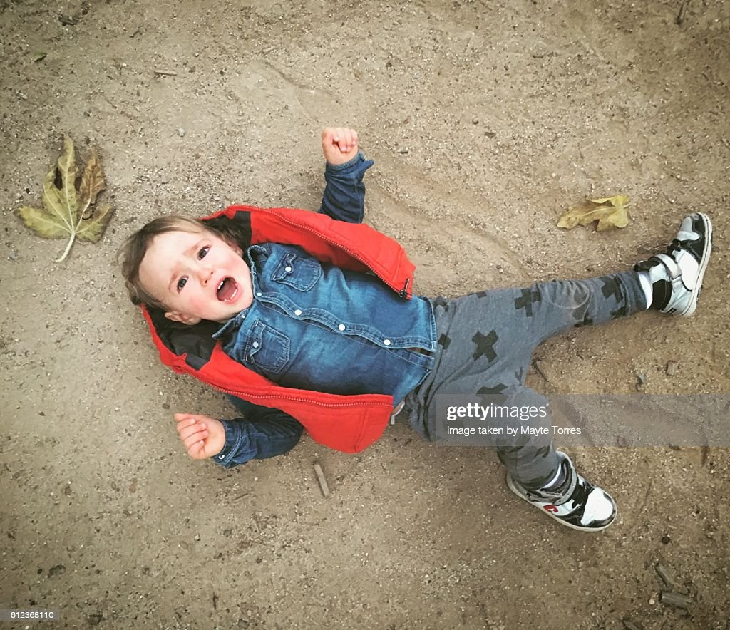 Boy having a tantrum : Foto de stock
