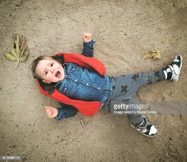 Boy having a tantrum
