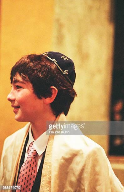 Boy Having Bar Mitzvah