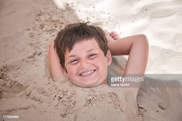 Boy having fun at beach
