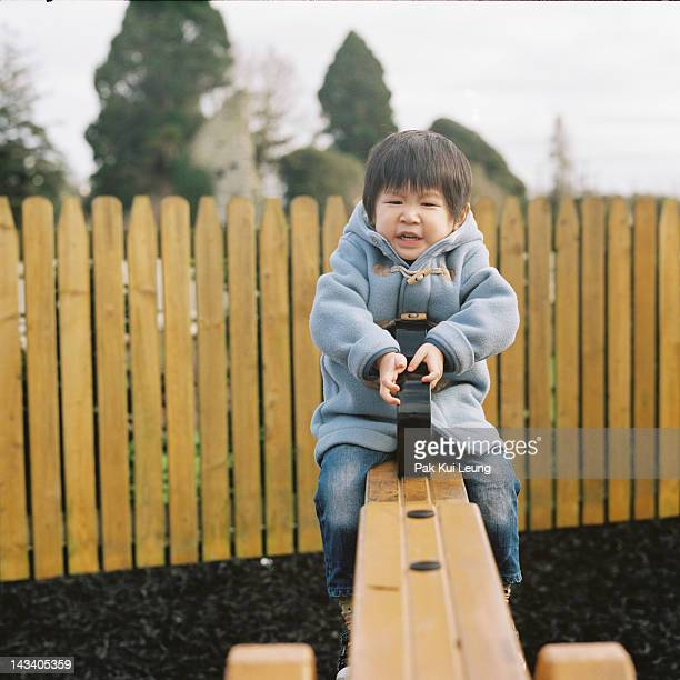 Boy having fun in park