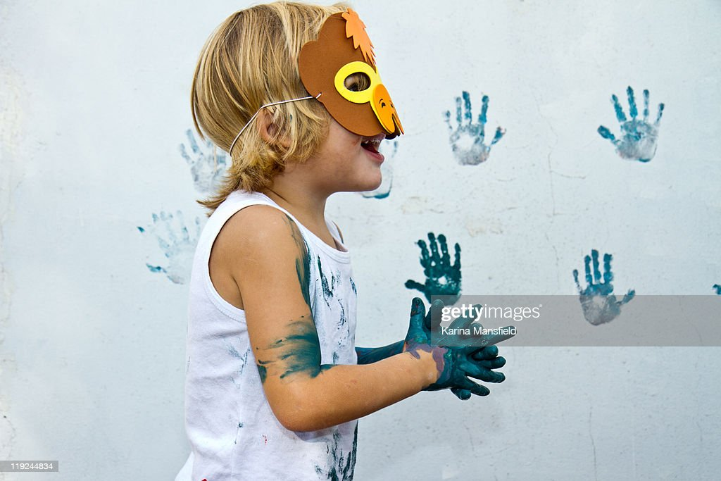Boy having fun : Foto stock