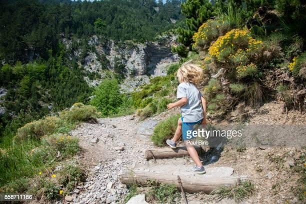 Boy Hiking At Mount Olympus, Greece