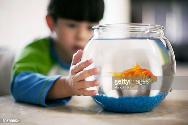 Boy Holding Fishbowl