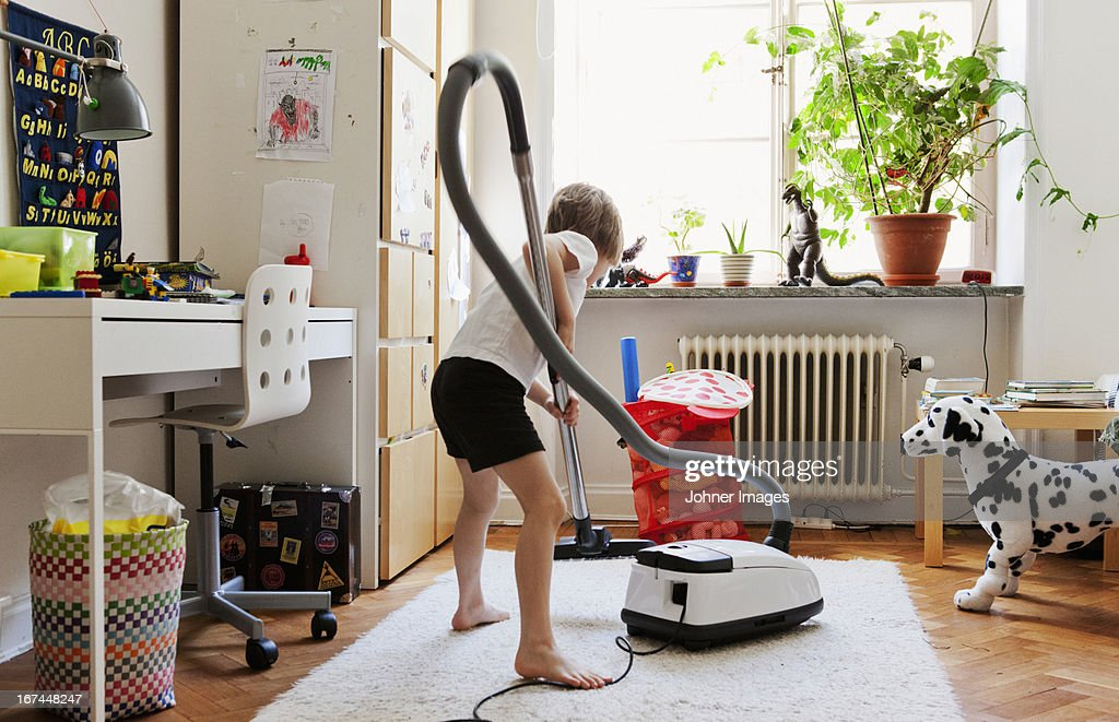 Boy hovering nursery : Stock Photo