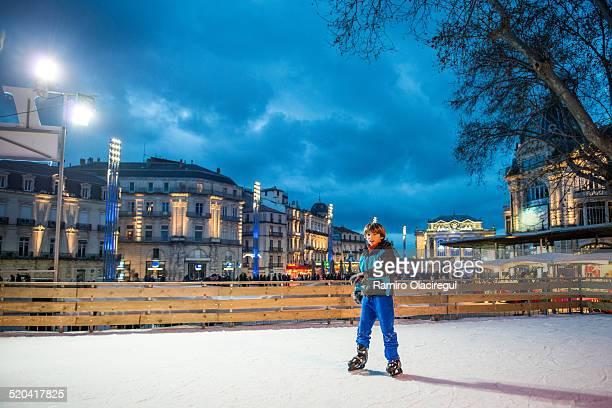 Boy Ice skating