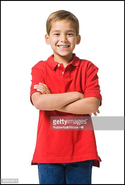 boy in a red shirt. - red shirt stock pictures, royalty-free photos & images