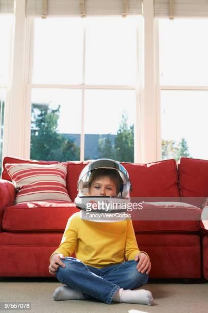 Boy in a space helmet