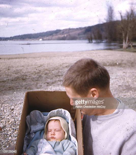 boy in box - rock baby sleep stock pictures, royalty-free photos & images