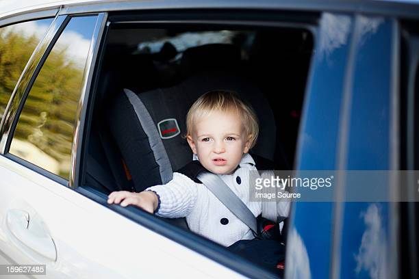 boy in car - vehicle interior stock pictures, royalty-free photos & images
